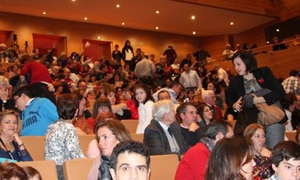 El público llenó la sala del Auditorio
