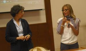 Durante otra sesión de la reunión en Roma