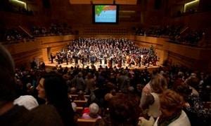 Aspecto del auditorio durante el concierto