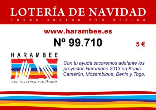 Ya está disponible la Lotería de Harambee para estas Navidades ¡Anímate a ayudar a los proyectos de Harambee!