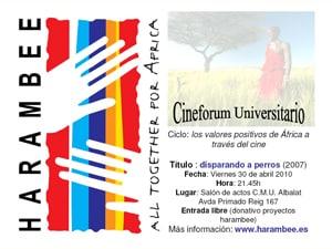 El 30 de abril se pone en marcha de un Cineforum Universitario Harambee en Valencia