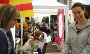 En Girona y por segundo año consecutivo, Harambee estuvo presente en la Plaça Catalunya, al lado de las concurridas Ramblas de la ciudad
