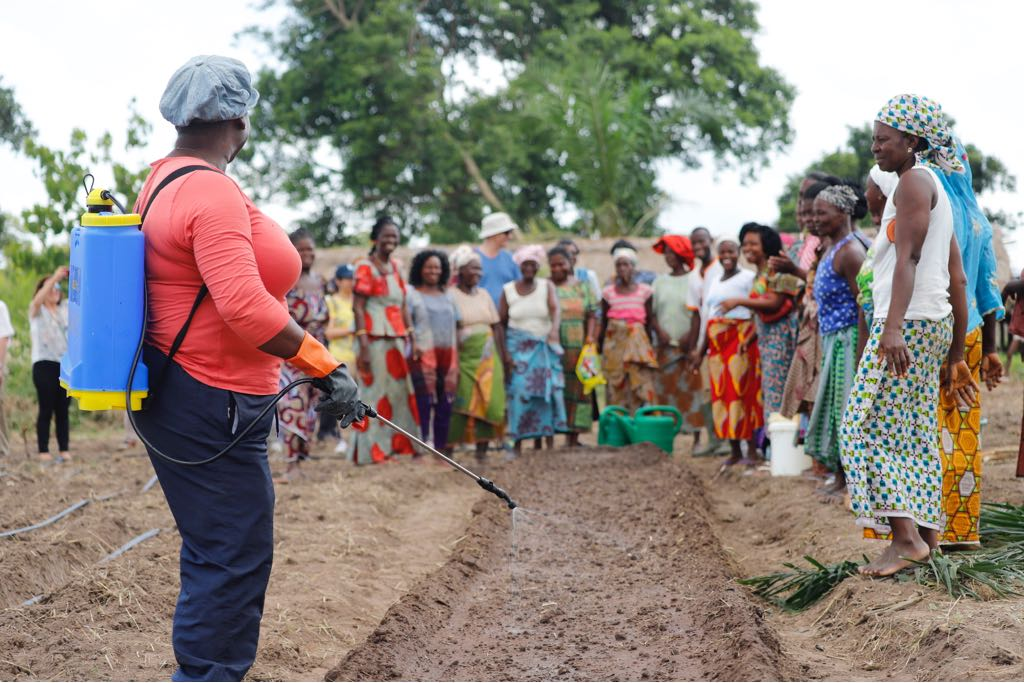 Capacitación de mujeres pequeñas agricultoras