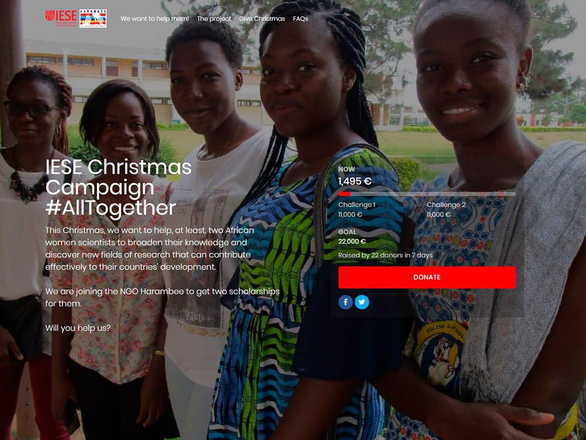 EL IESE  colabora en el Proyecto Becas Guadalupe de Harambee