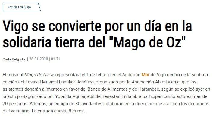 """Faro de Vigo   Vigo se convierte por un día en la solidaria tierra del """"Mago de Oz"""""""