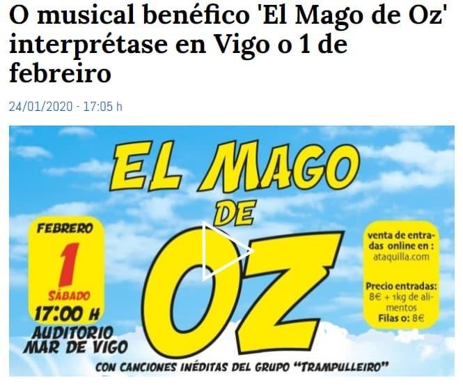 CRTVG | O musical benéfico 'El Mago de Oz' interprétase en Vigo o 1 de febreiro