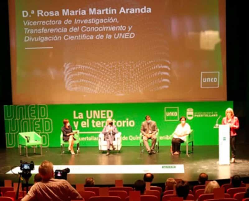 Rosa Martin Aranda de la Uned en la Presentación de la Catedra Uned de Quimica Sostenible
